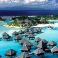 Líbánky na Bora Bora v Le Meridien